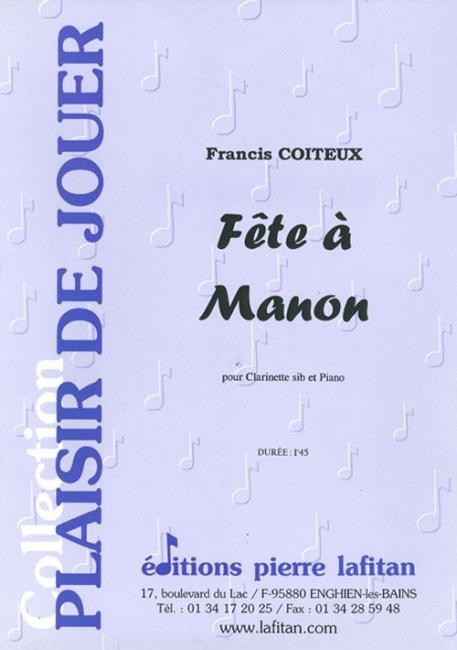 PARTITION FETE A MANON, 1 titre, clarinette et piano ...