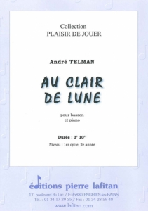 PARTITION AU CLAIR DE LUNE (BASSON)