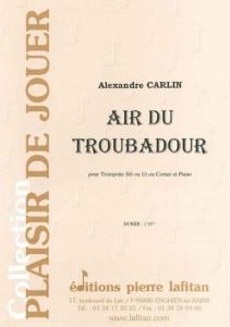 PARTITION AIR DU TROUBADOUR