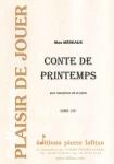 PARTITION CONTE DE PRINTEMPS (SAX SIb)
