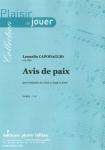 PARTITION AVIS DE PAIX