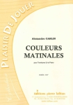 PARTITION COULEURS MATINALES (TROMBONE)