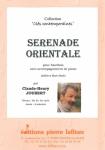 PARTITION SÉRÉNADE ORIENTALE