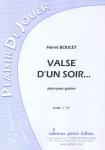 PARTITION VALSE D´UN SOIR...