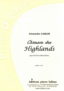 PARTITION CHANSON DES HIGHLANDS (COR)