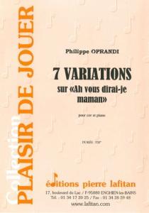 """PARTITION 7 VARIATIONS sur """"Ah vous dirai-je maman"""""""
