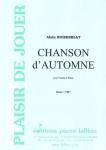 PARTITION CHANSON D'AUTOMNE