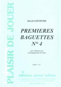 PARTITION PREMIERES BAGUETTES N°4 (TAMBOUR)