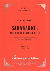 PARTITION SARABANDE DE HAENDEL (2 CLARINETTES)