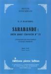 PARTITION SARABANDE DE HAENDEL (2 HAUTBOIS)