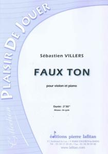 PARTITION FAUX TON (VIOLON)