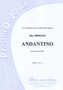 PARTITION ANDANTINO (VIOLON)