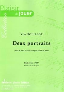 PARTITION DEUX PORTRAITS (VIOLON)