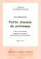 PARTITION PETITE CHANSON DE PRINTEMPS (COR)
