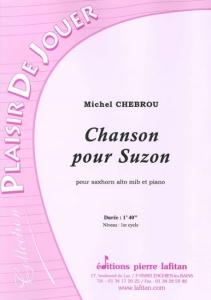 PARTITION CHANSON POUR SUZON (SAXHORN ALTO)
