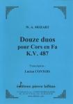 RECUEIL DOUZE DUOS POUR CORS EN FA K.V. 487