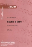 PARTITION FACILE À DIRE (SAXHORN ALTO)