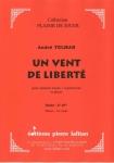 PARTITION UN VENT DE LIBERTÉ (SAXHORN BASSE)
