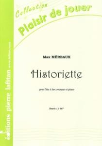 PARTITION HISTORIETTE (FLUTE A BEC)