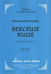 PARTITION BERCEUSE RUSSE (CLARINETTE)