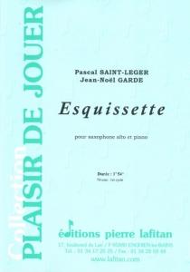 PARTITION ESQUISSETTE (SAX ALTO)