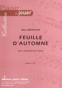 PARTITION FEUILLE D'AUTOMNE (SAX Sib)