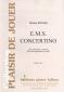 PARTITION E.M.S. CONCERTINO (CLAIRONS 3V)