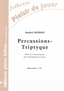 PARTITION PERCUSSIONS-TRIPTYQUE