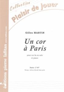 PARTITION UN COR A PARIS