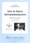 PARTITION SUITE DE DANSES THÉROULDEBOURGEOISES