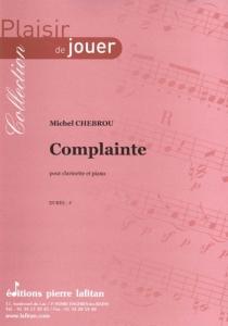 PARTITION COMPLAINTE (CLARINETTE)