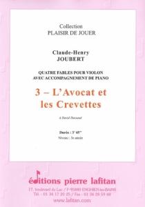 PARTITION L'AVOCAT ET LES CREVETTES