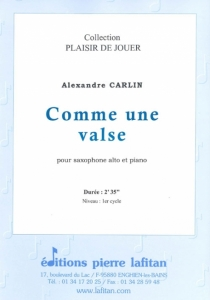 PARTITION COMME UNE VALSE (SAX ALTO)