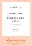PARTITION COMME UNE VALSE (CLARINETTE)