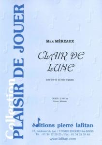 PARTITION CLAIR DE LUNE (COR)