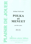 PARTITION POLKA ET MENUET (FLÛTE)