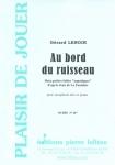 PARTITION AU BORD DU RUISSEAU (SAX ALTO)