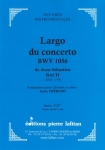 PARTITION LARGO DU CONCERTO BWV 1056 (CLARINETTE)