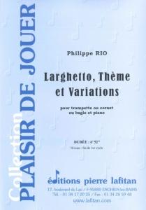 PARTITION LARGHETTO, THÈME ET VARIATIONS