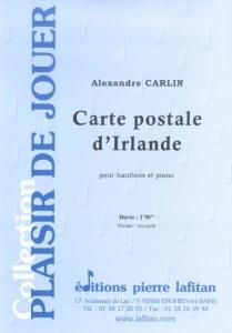 PARTITION CARTE POSTALE D'IRLANDE (HAUTBOIS)