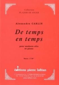 PARTITION DE TEMPS EN TEMPS (SAXHORN ALTO)