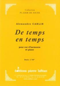 PARTITION DE TEMPS EN TEMPS (COR)
