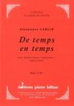 PARTITION DE TEMPS EN TEMPS (SAXHORN BASSE)