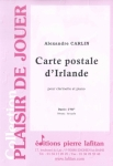 PARTITION CARTE POSTALE D'IRLANDE (CLARINETTE)