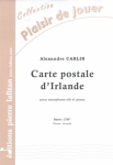 PARTITION CARTE POSTALE D'IRLANDE (SAX SIB)