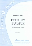 PARTITION FEUILLET D'ALBUM (SAX SIB)