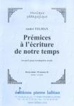 RECUEIL PRÉMICES À L'ÉCRITURE DE NOTRE TEMPS