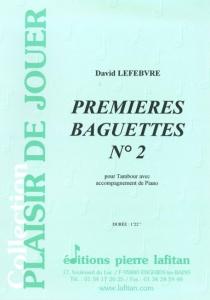 PARTITION PREMIERES BAGUETTES N°2 (TAMBOUR)