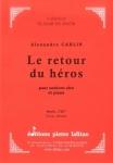 PARTITION LE RETOUR DU HÉROS (SAXHORN ALTO)