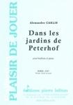 PARTITION DANS LES JARDINS DE PETERHOF (HAUTBOIS)